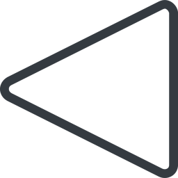 triangle triangle, line, left, normal free icon 256x256 256x256px