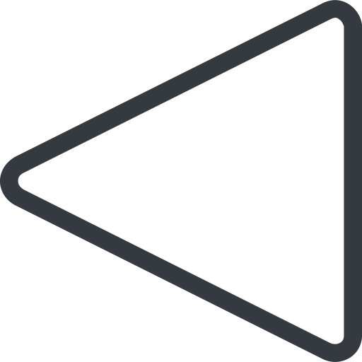 triangle triangle, line, left, normal free icon 512x512 512x512px