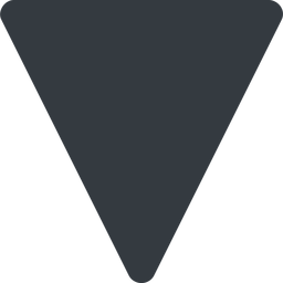 triangle triangle, thin, down, solid free icon 256x256 256x256px