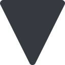 triangle triangle, thin, down, solid free icon 128x128 128x128px