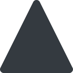 triangle triangle, thin, up, solid free icon 256x256 256x256px