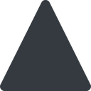 triangle triangle, thin, up, solid free icon 128x128 128x128px