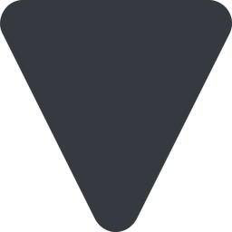 triangle triangle, down, wide, solid free icon 256x256 256x256px