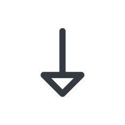 arrow line, down, normal, arrow free icon 256x256 256x256px