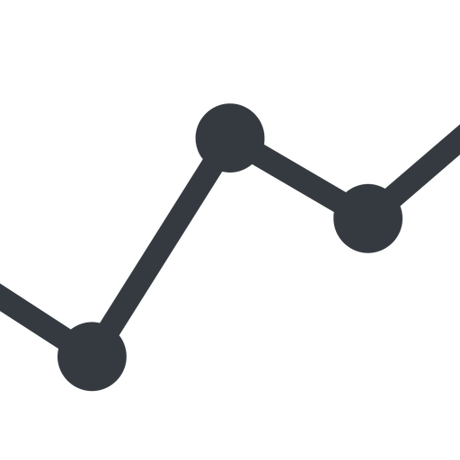 analytics line, down, normal, graph, analytics, chart free icon 512x512 512x512px