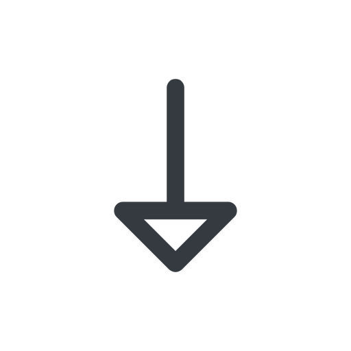 arrow line, down, normal, arrow free icon 512x512 512x512px