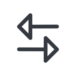 change line, up, normal, horizontal, mirror, arrow, update, change, switch, select, revert, double, double-arrow free icon 256x256 256x256px