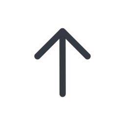 arrow-simple line, up, arrow, direction, arrow-simple free icon 256x256 256x256px