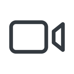 videocamera line, up, normal, youtube, video, camera, film, movie, vimeo, videocamera free icon 256x256 256x256px