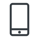smartphone line, up, normal, iphone, phone, android, gsm, smartphone, cell free icon 128x128 128x128px
