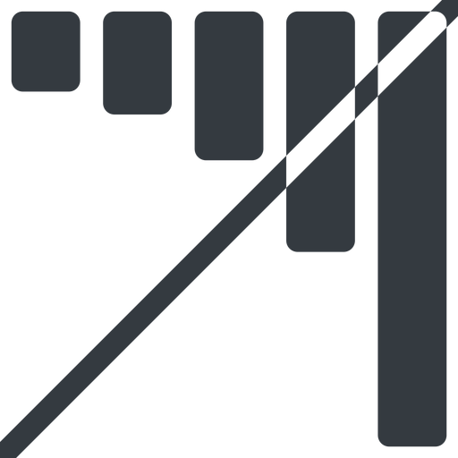bar-chart-solid line, down, normal, horizontal, mirror, graph, chart, prohibited, statistics, antenna, mobile, signal, bars, level, strength, bar, bar-chart-solid free icon 512x512 512x512px