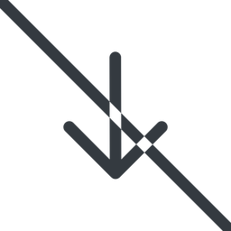 arrow-simple line, down, arrow, direction, prohibited, arrow-simple free icon 256x256 256x256px