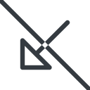 arrow-corner line, down, arrow, prohibited, link, url, href, corner, arrow-corner free icon 128x128 128x128px