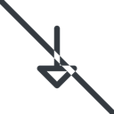arrow line, down, normal, arrow, prohibited free icon 128x128 128x128px