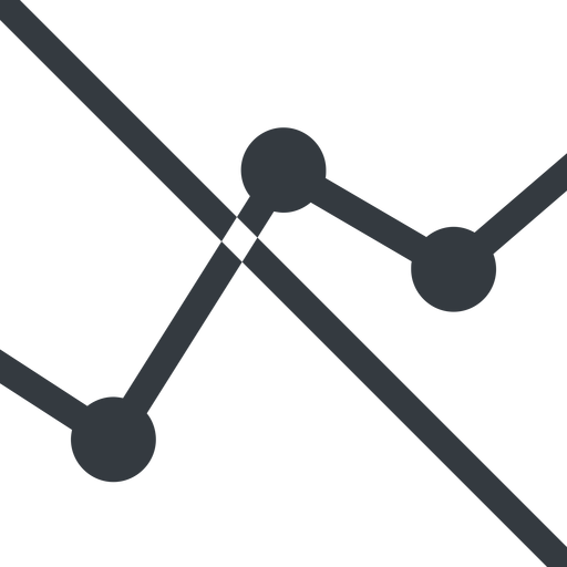 analytics line, down, normal, graph, analytics, chart, prohibited free icon 512x512 512x512px