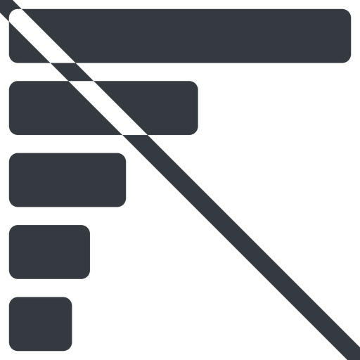 bar-chart-solid line, left, normal, horizontal, mirror, graph, chart, prohibited, statistics, antenna, mobile, signal, bars, level, strength, bar, bar-chart-solid free icon 512x512 512x512px