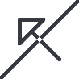 arrow-corner line, left, arrow, prohibited, link, url, href, corner, arrow-corner free icon 256x256 256x256px