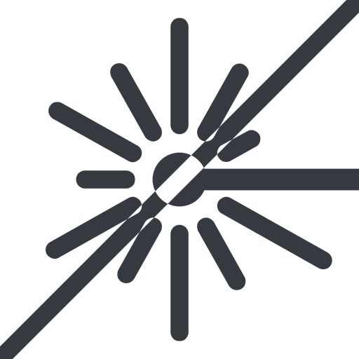 laser line, left, normal, prohibited, laser, light, cutting, engrave free icon 512x512 512x512px