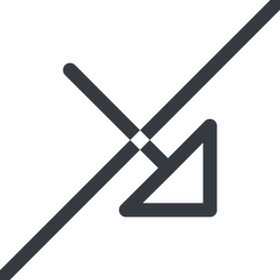 arrow-corner line, right, arrow, prohibited, link, url, href, corner, arrow-corner free icon 256x256 256x256px
