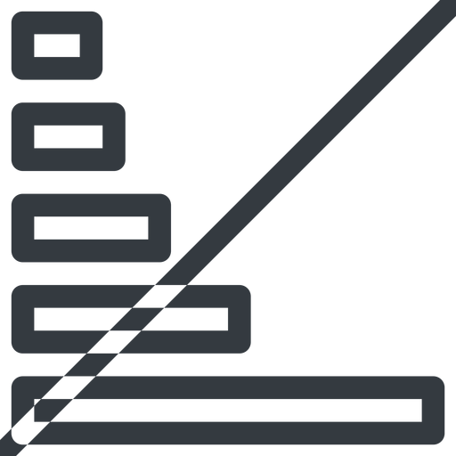 bar-chart line, right, normal, graph, chart, prohibited, statistics, antenna, mobile, signal, bars, level, strength, bar, bar-chart free icon 512x512 512x512px