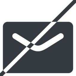 close-envelope-solid line, normal, horizontal, mirror, envelope, mail, message, email, prohibited, contact, close, unread, close-envelope-solid, close-envelope free icon 256x256 256x256px