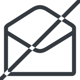 open-envelope-alt line, normal, horizontal, mirror, envelope, mail, message, email, prohibited, contact, open, read, open-envelope, open-envelope-alt free icon 256x256 256x256px