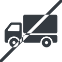 truck-solid line, normal, solid, horizontal, mirror, prohibited, truck, delivery, van, lorry, truck-solid free icon 128x128 128x128px
