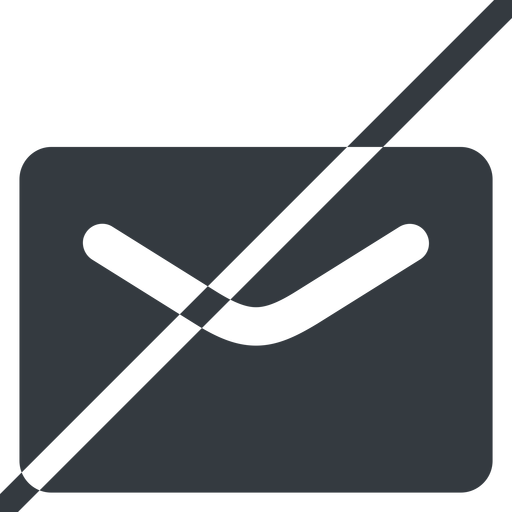 close-envelope-solid line, normal, horizontal, mirror, envelope, mail, message, email, prohibited, contact, close, unread, close-envelope-solid, close-envelope free icon 512x512 512x512px