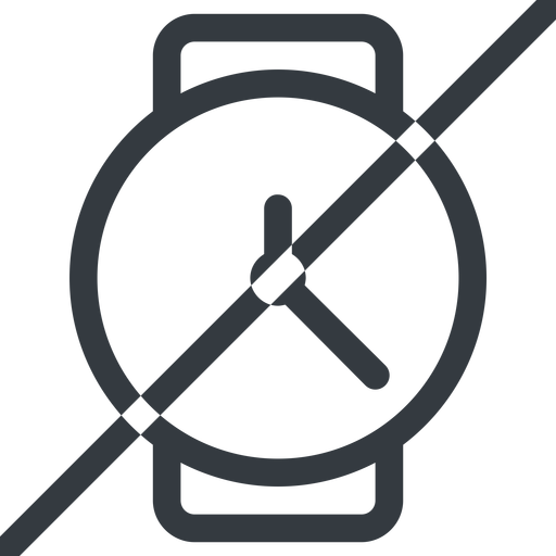 watch line, up, normal, horizontal, mirror, prohibited, time, hour, minute, hours, minutes, watch free icon 512x512 512x512px