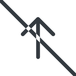 arrow-simple line, up, arrow, direction, prohibited, arrow-simple free icon 256x256 256x256px