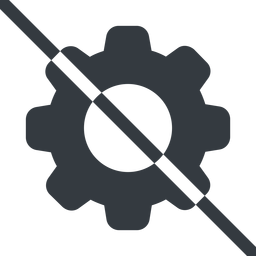 setting-solid line, normal, setting, config, gear, wheel, settings, cog, prohibited, setting-solid free icon 256x256 256x256px