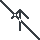 arrow-simple line, up, arrow, direction, prohibited, arrow-simple free icon 128x128 128x128px