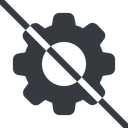 setting-solid line, normal, setting, config, gear, wheel, settings, cog, prohibited, setting-solid free icon 128x128 128x128px