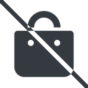 shopping-bag-solid line, normal, prohibited, shopping, cart, market, handbag, bag, bags, shopping-bag, shopping-bag-solid free icon 128x128 128x128px