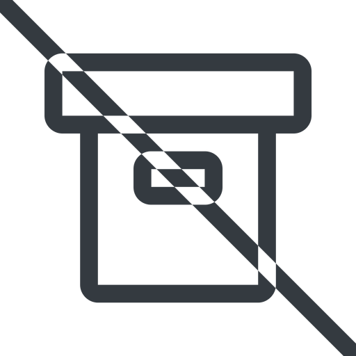 archive line, normal, prohibited, archive, back-up free icon 512x512 512x512px