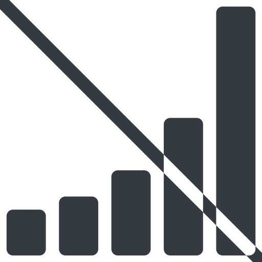 bar-chart-solid line, up, normal, graph, chart, prohibited, statistics, antenna, mobile, signal, bars, level, strength, bar, bar-chart-solid free icon 512x512 512x512px