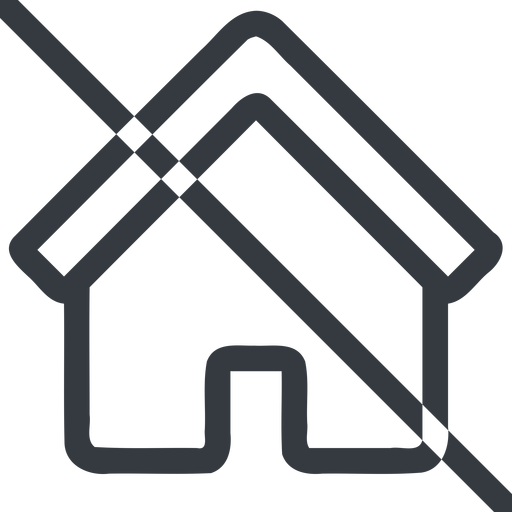 home line, normal, home, house, prohibited free icon 512x512 512x512px