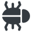 bug-solid right, normal, solid, animal, bug, debug, debugging, insect, bug-solid free icon 64x64 64x64px