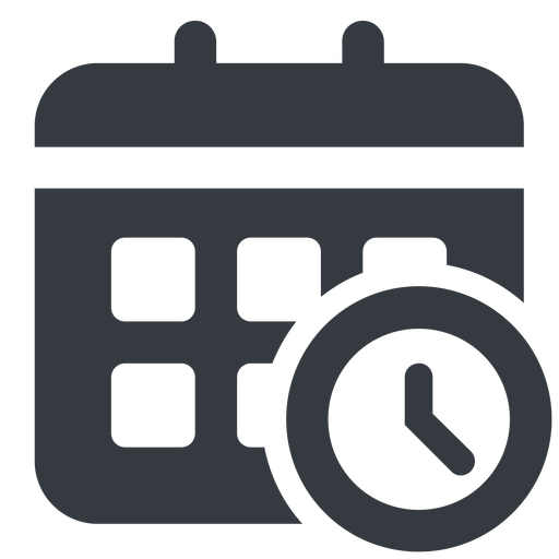 calendar-clock-solid normal, solid, horizontal, mirror, date, schedule, event, timetable, calendar, clock, time, meeting, hour, minute, hours, minutes, deadline, calendar-clock, calendar-clock-solid free icon 512x512 512x512px