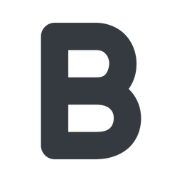 bold-alt normal, solid, b, text, type, editor, font, typography, font-weight, bold, bold-alt, strong free icon 256x256 256x256px