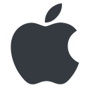 apple normal, solid, logo, brand, apple, macintosh, itunes, ipad, iphone, ipod free icon 128x128 128x128px