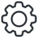 gear normal, setting, config, gear, wheel, settings, cog free icon 128x128 128x128px