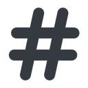 hashtag-solid normal, solid, social, hashtag, hashtag-solid free icon 128x128 128x128px