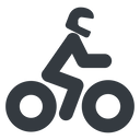 motorbike-solid normal, solid, riding, bike, cycle, motorbike, motorcycle, biker, motorbike-solid free icon 128x128 128x128px