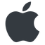 apple normal, solid, logo, brand, apple, macintosh, itunes, ipad, iphone, ipod free icon 64x64 64x64px