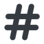hashtag-solid normal, solid, social, hashtag, hashtag-solid free icon 64x64 64x64px