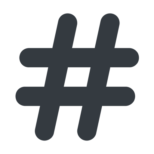 hashtag-solid normal, solid, social, hashtag, hashtag-solid free icon 512x512 512x512px