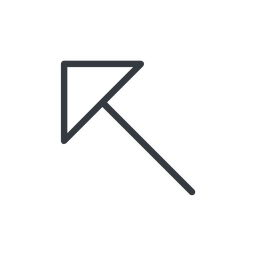 arrow-corner-thin thin, line, left, arrow, corner, arrow-corner-thin free icon 256x256 256x256px