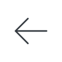 arrow-simple-thin thin, line, left, arrow, direction, arrow-simple-thin free icon 128x128 128x128px