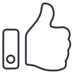 thumb-thin line, up, horizontal, mirror, rate, rating, thumb, like, dislike, thumbs, thump-up, thumb-down, approved, best, thumb-thin free icon 256x256 256x256px